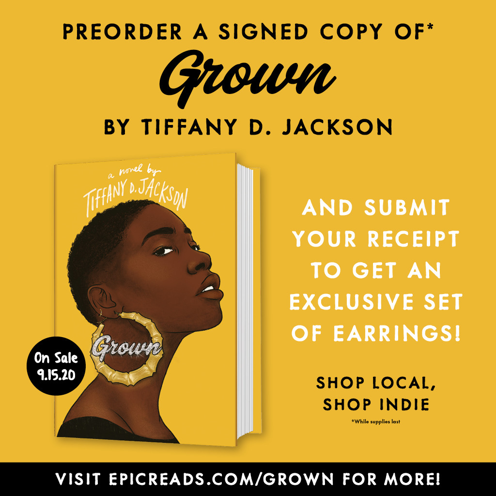 PRE-ORDER SWAG IS 🔥 🔥🔥 Support our local indies by pre-ordering GROWN & get these exclusive bamboo earrings (while supplies last). Submit receipt at epicreads.com/GROWN