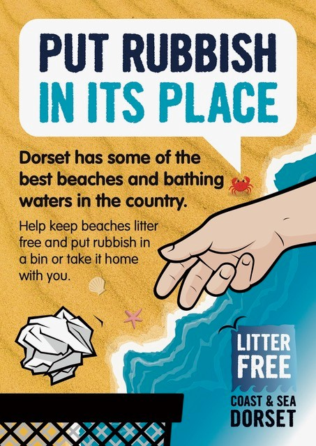 Please remember to take your rubbish home if the bins are full @LitterFreeDrst #respectprotectenjoy @DorsetTourism @VisitWestDorset @thebridportnews