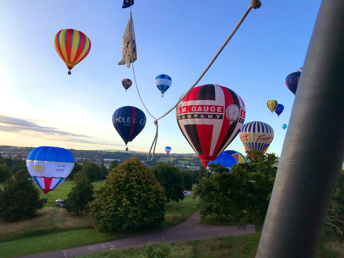Our Director @BenWhatley1 took to the skies this morning as part of the #FiestaFlypast #BristolBalloonFiesta. What an iconic event to be part off 👏