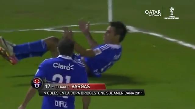 🙌🇨🇱 ¡Qué definición! El gol más importante de @udechile campeón de la #Sudamericana 2011, según los hinchas, es el de Eduardo Vargas en la final de ida ante #LDU.  🏆 #LaGranConquista @qatarairways https://t.co/7ENbx33sX8