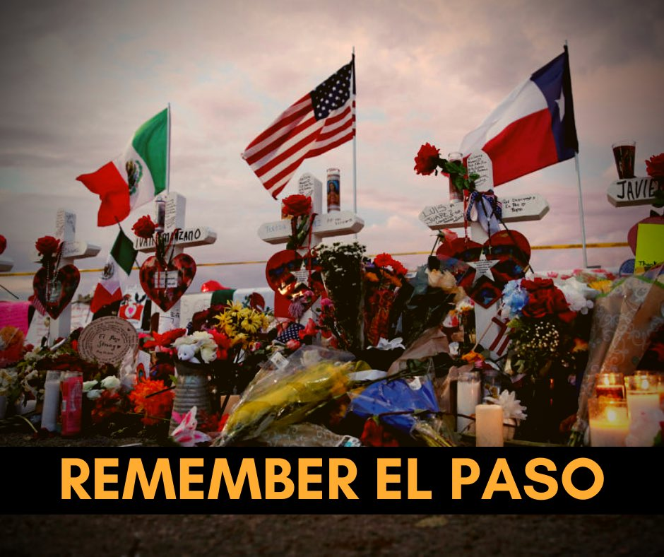 One year ago today, the El Paso shooting was not only an attack on the Latino community, but an assault on our entire American family. We must honor the 23 people killed and 22 wounded by reaffirming our efforts to disarm hate and heal our nation with love. #ElPasoStrong