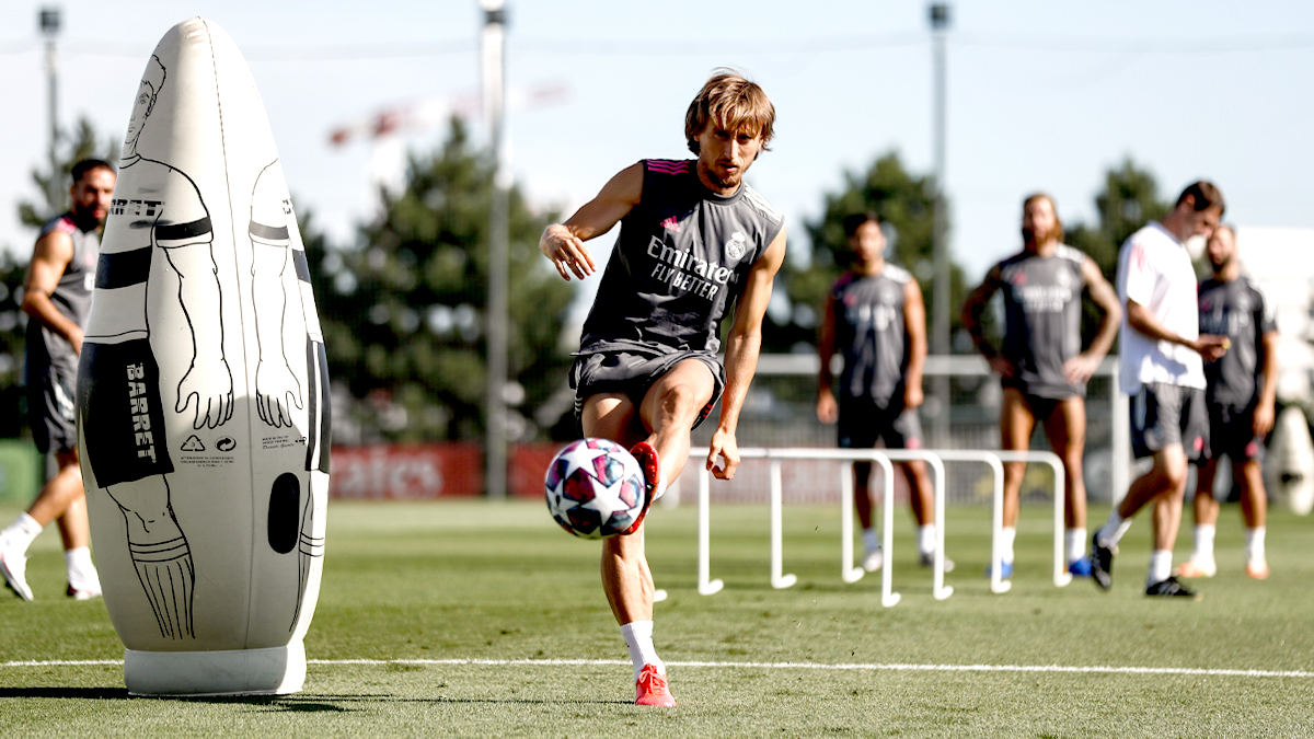 Modric, en la sesión del Real Madrid (Foto: RM).