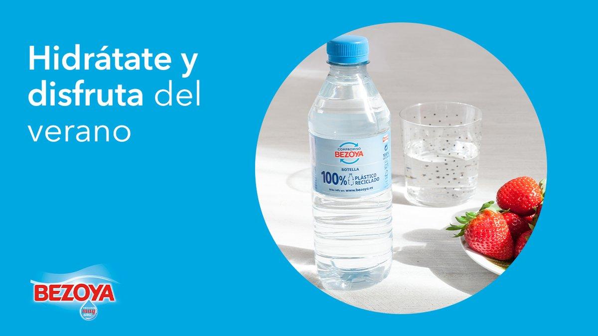 #DarLoMejor es cuidar de tu salud y del medioambiente. Ahora más que nunca es momento de hidratarse bien y, junto a@Bezoya, damos lo mejor ofreciéndote un agua de mineralización muy débil en botellas de plástico 100% reciclado en formatos pequeños.  https://t.co/IBiPSysuA6 https://t.co/svkf2NwRco