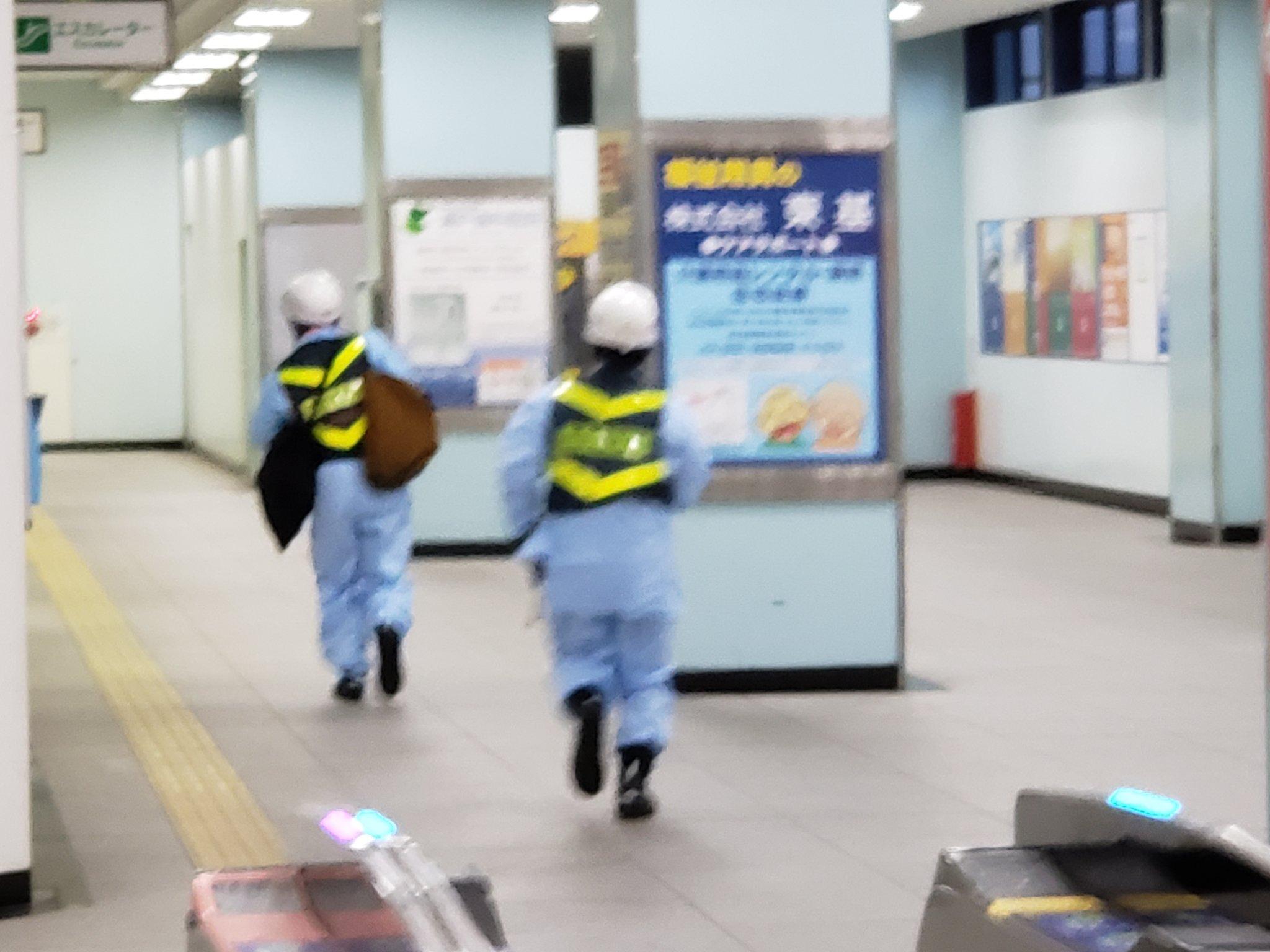 富士見台駅の人身事故の現場の様子の画像