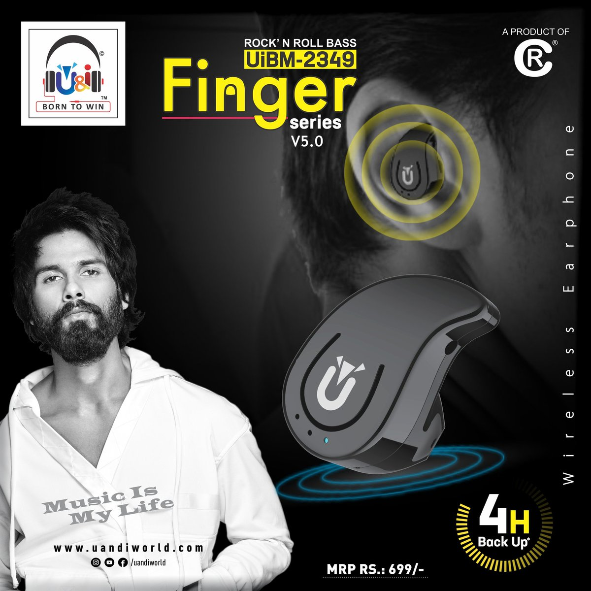 The message behind the words is the voice of your heart. Enjoy your talk with U&i Finger series wireless earphone with 4 hours battery backup.  #uandi #uandiworld #shahidkapoor#earphone #mobileaccessories #borntowin #musicismylife #shanaticspic.twitter.com/R5WZQ4c1yp