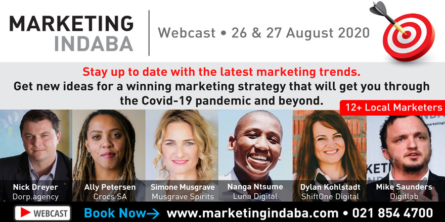 Attend the MARKETING INDABA Webcast #Conference in the comfort of your own home or office. Learn from 12+ local #marketing professionals over 2 days. Designed to help you create a winning marketing strategy. #marketingtips, #marketingideas. Tickets: http://www.marketingindaba.com pic.twitter.com/f0aGpHCxlP