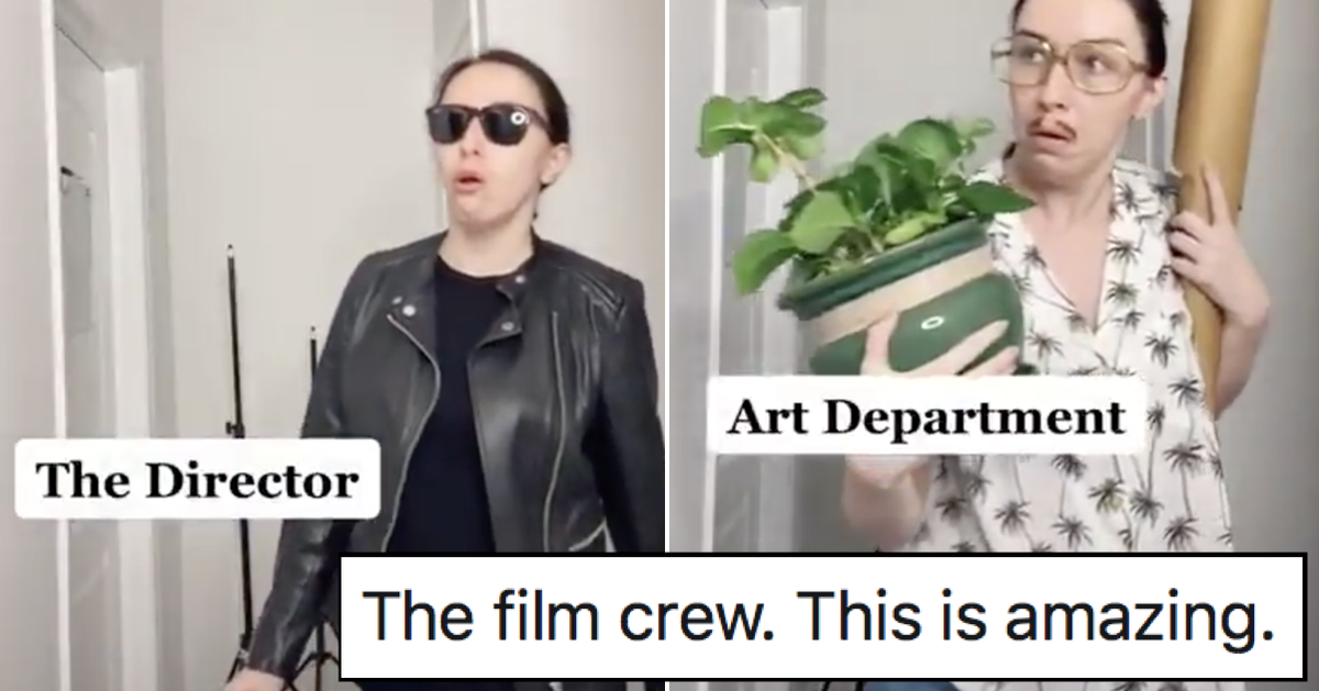 This one-woman depiction of a film crew is simply brilliant (by @aimeelajoie) https://t.co/l2ptCtxlGV https://t.co/jgz0qggHFy