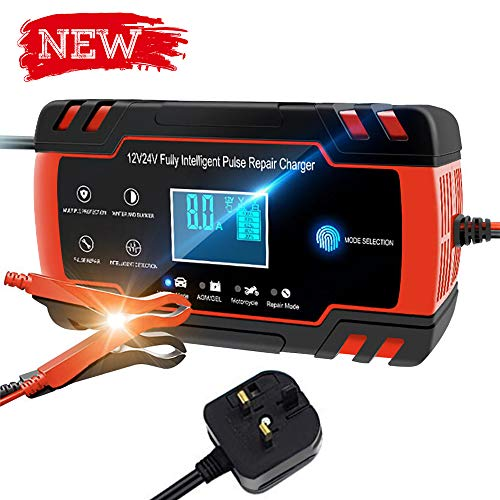 Not many left!! Directtyteam Car Battery Charger Lntelligent 8A 12V/4A  for only £26.88