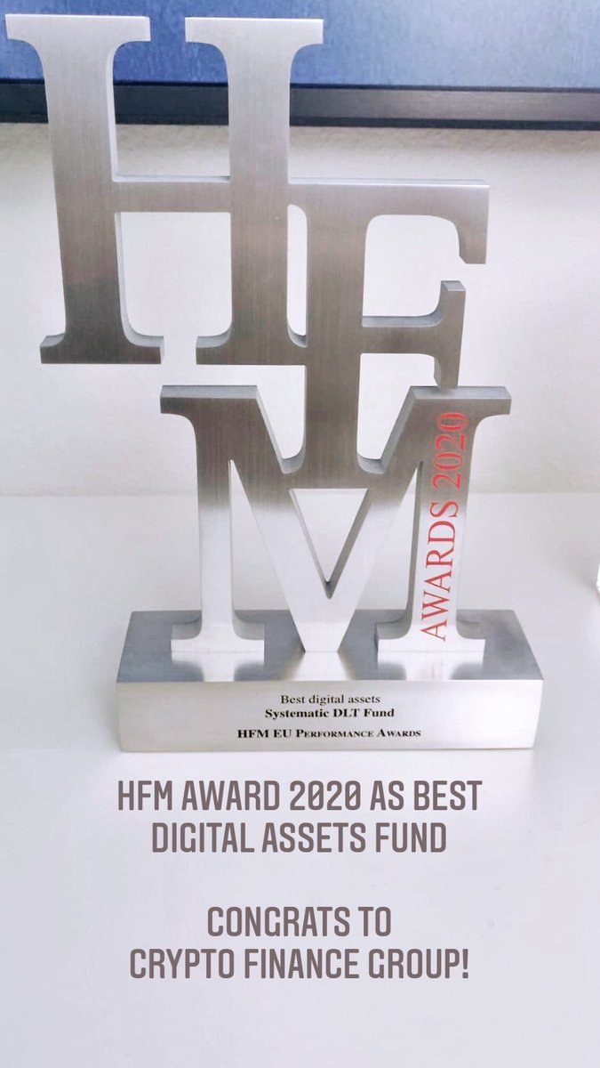 Looks nice: HFM Award 2020 as best digital assets fund instagram.com/stories/marcpb… Congrats to @CryptoFinanceAG @MathiasMaurer @JanBrzezek and the whole Crypto Fund AG team! @HFM_Global #DigitalAssets #CryptoFunds #HedgeFunds #Bitcoin