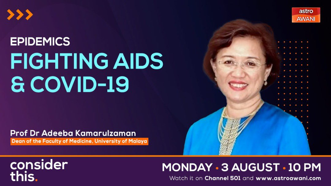 The conversation over the HIV/AIDS epidemic has evolved and holds lessons for the fight against Covid-19. Tonight on #ConsiderThis @SharaadKuttan & I speak to @ProfAdeeba the newly appointed president of @iasociety about how we can do so much better. #TalkUndetectedTalkPREP