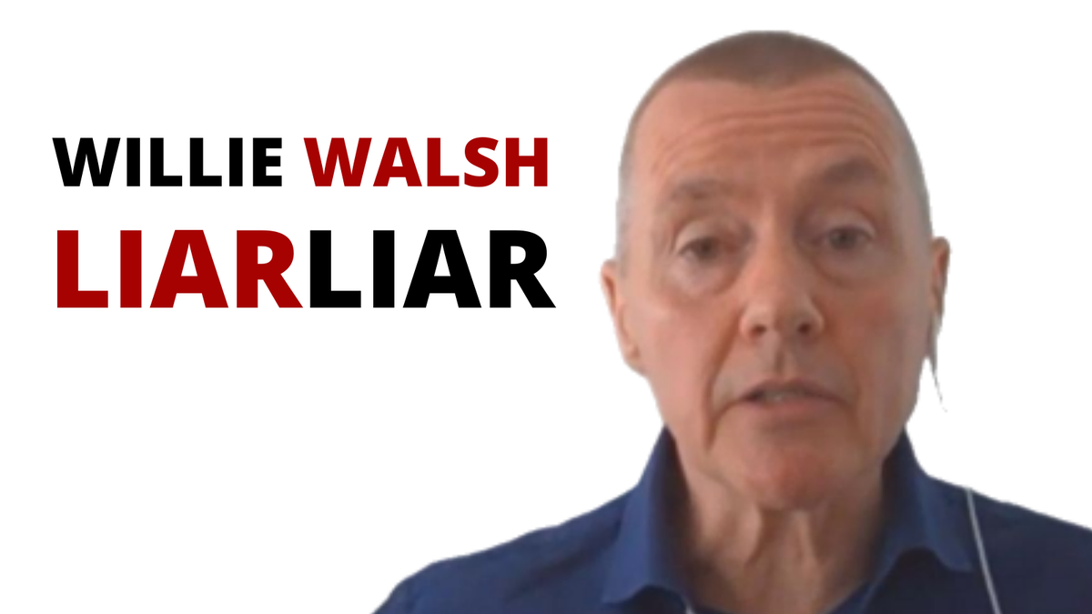 Willie Walsh, new star of Liar Liar! He says he is proposing no more than 20% off basic pay. As you well know Willie, for some basic only makes up 50% of pay. Where is the other 50%? Do the @GOVUK wish to stand idly by and watch BA destroy lives? #handbacktheslots #BorisAct https://t.co/DonIUMlpwB