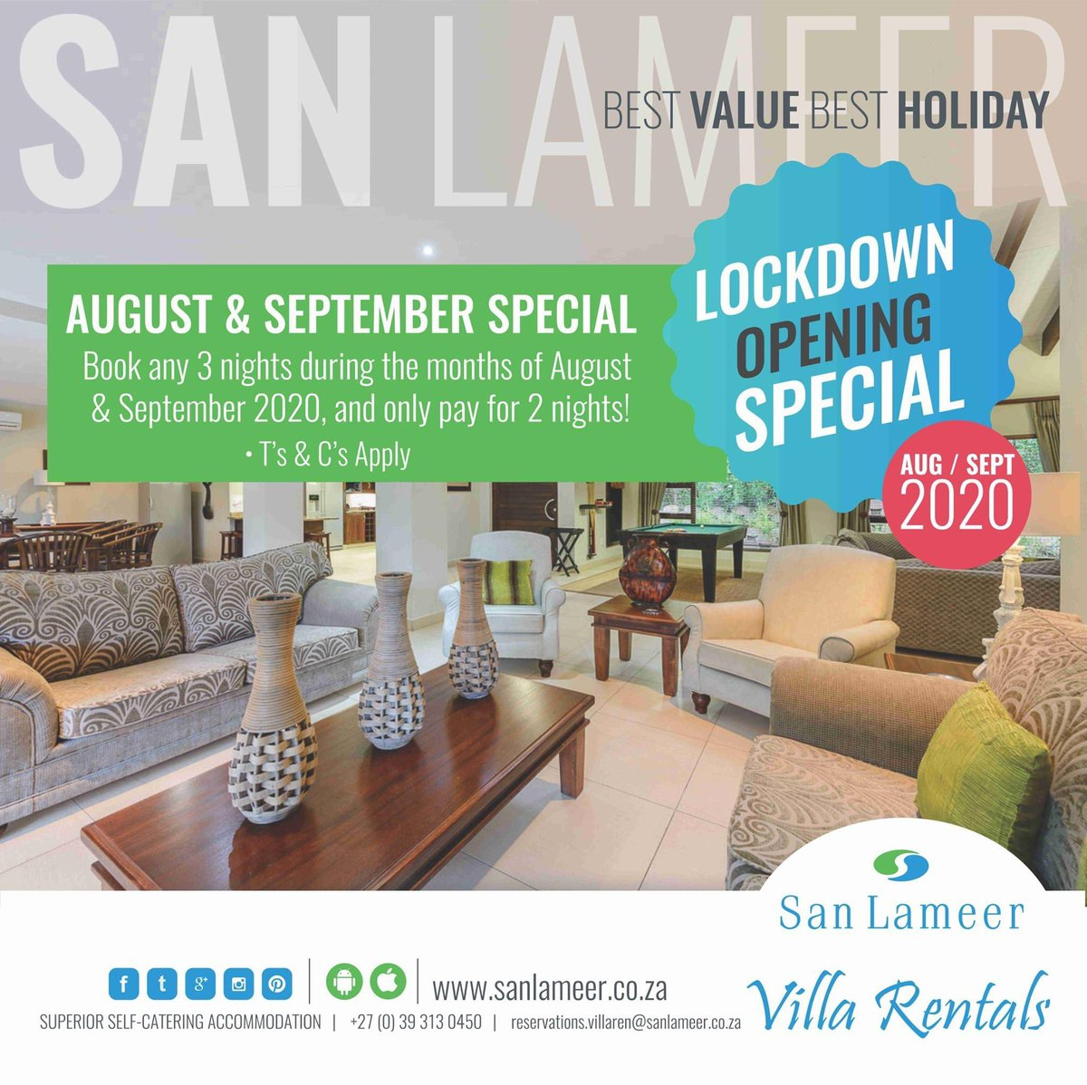 Did someone say intra-provincial leisure travel?   We're back! And very excited to have guests from KZN at our Villas again. Come and enjoy our 18 Hole Championship Golf Course & Mountain Bike Contact us:  Tel: +27 (0) 39 313 0450 Email: reservations.villaren@sanlameer.co.za pic.twitter.com/w99vblx3SD