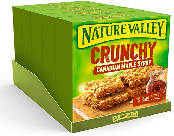 Nature Valley Crunchy Oats & Honey Cereal Bars 42g 50 Bars (Pack of 25 x 2 bars) - £5