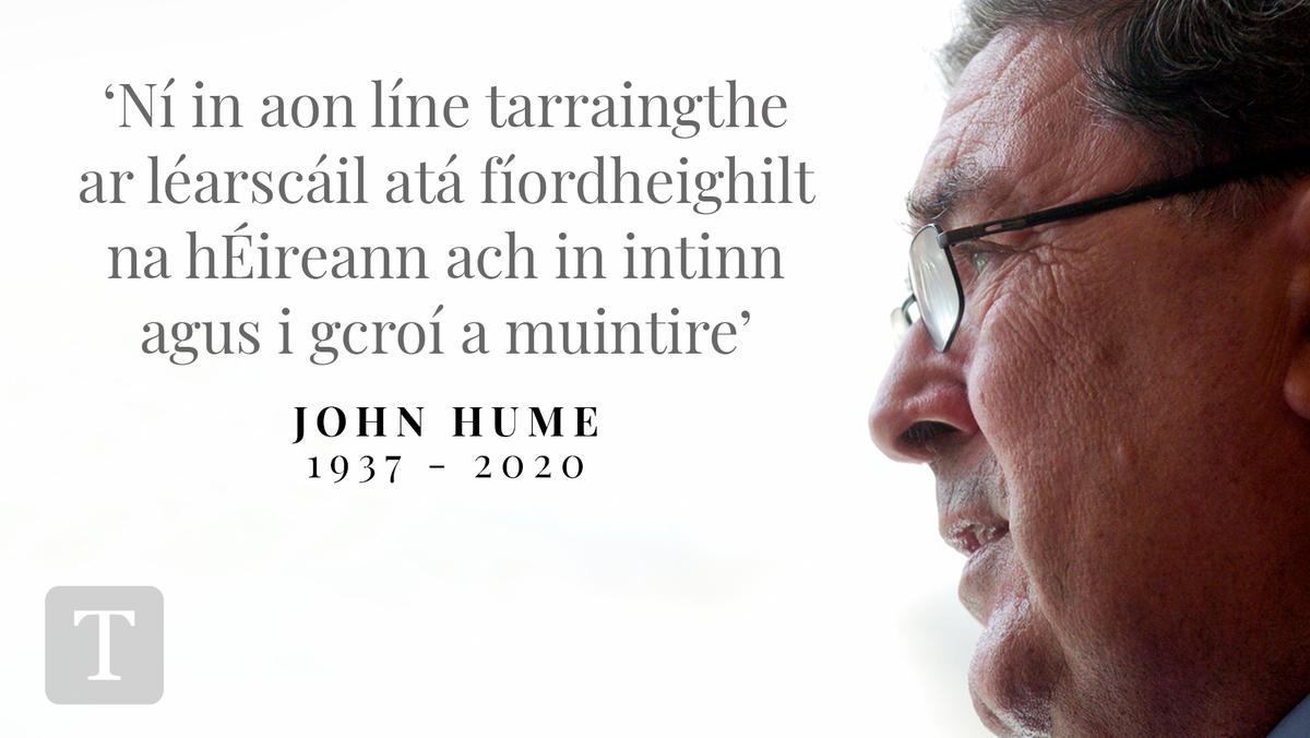 JOHN HUME, 1937 - 2020