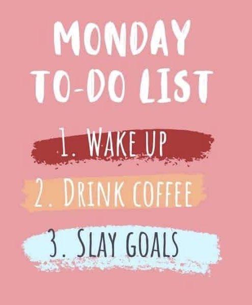 Wake Up! Drink Coffee! Slay Goals! #mondaythoughts