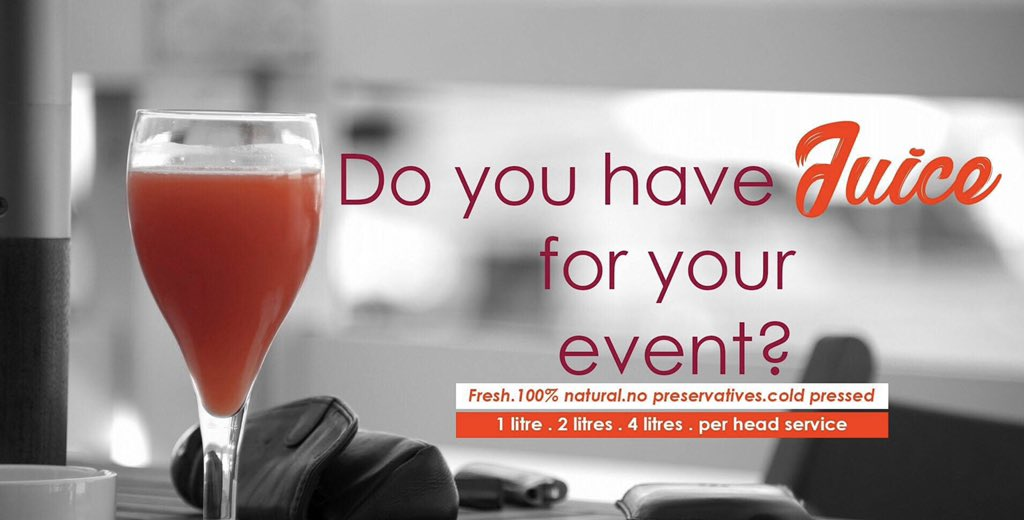 Always make fresh pressed fruit juice an option at your events! It's refreshing on a different level!   We cater for corporate events, weddings, birthdays etc...  Book Just Fresh for your next event; call 0205182360/ 0500002994   #fruitjuice #events #ghanaweddings #Justfreshpic.twitter.com/fFlYKywYVF