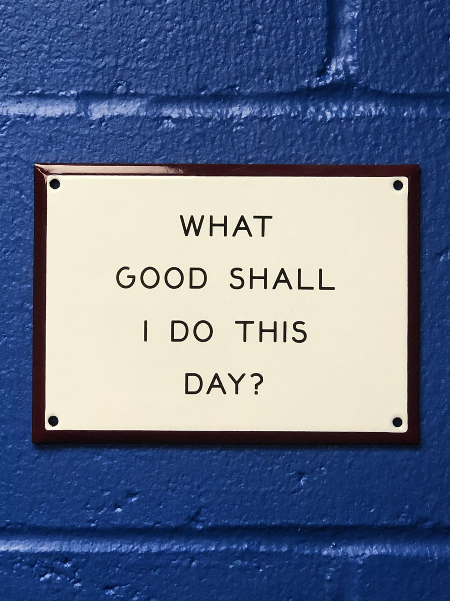 What good shall I do this day, week, month and year? #firstdayback #PositiveVibes #MondayMotivation