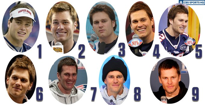 Happy 43rd Birthday Tom Brady!   Which Super Bowl look is your favorite?