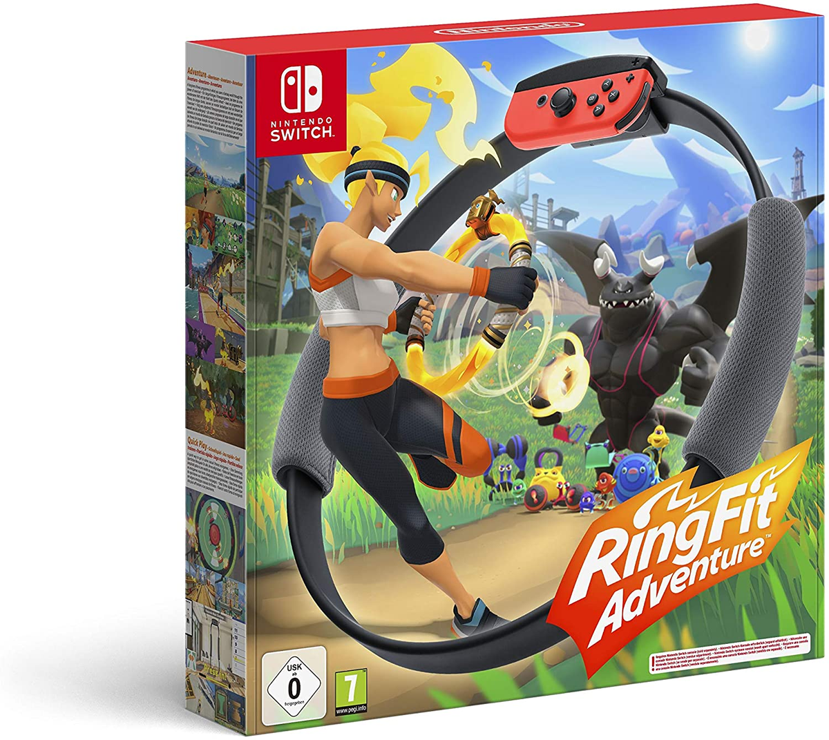 £64.99 & FREE Delivery   Ring Fit Adventure (Nintendo Switch)   @AmazonUK   #ad #staysafe