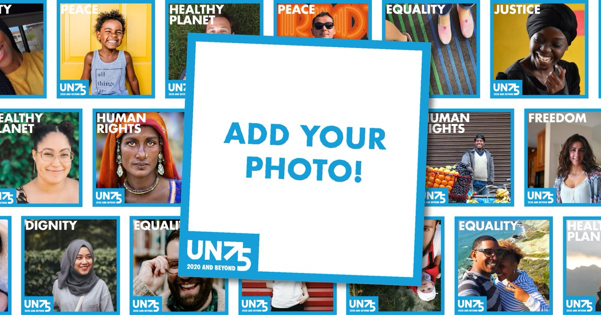 110,000+ people have already expressed their support for: Peace Human rights Equality Dignity for all Join them by adding your image to photo filters that promote UN values for our 75th birthday! share.un75.online #UN75