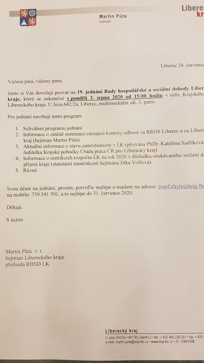 V Liberci se dnes sešla ke svému jednání krajská #tripartita. Sociální partneři a hejtman kraje p. @MartinPuta řešili mimo jiné i aktuální vývoj zaměstnanosti. Na Liberecku došlo k velmi mírnému zvýšení podílu nezaměstnaných. K dobrým výsledkům jistě pomohl i program Antivirus.