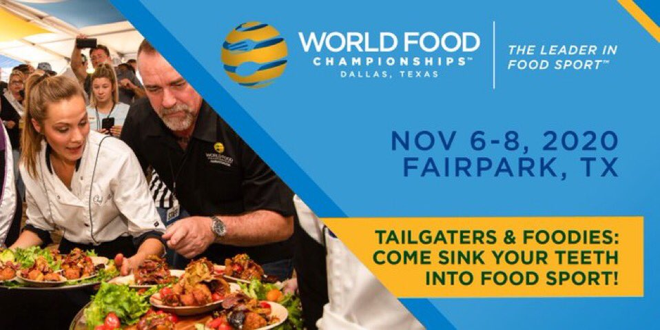 PSA 🚨: Tickets for the 2020 @WorldFoodChamp event at @fairpark this November are on sale NOW! 👀🍽 🎟: https://t.co/JBtCyyUag4  #WFC2020 #DallasBIGWins https://t.co/wBs7IDJhaG