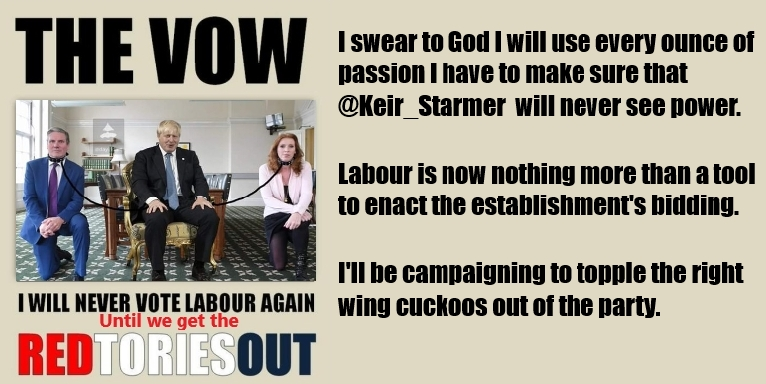 @BlimeyCorps @kelsojames1 No I think you are falling for Tory Divide and conquer tactics! BLUE TORY or RED TORY Starmer has no credentials - and definatly has no socialist credentials you and both myself and 1,000s of others have finished with Labour, to the very point that