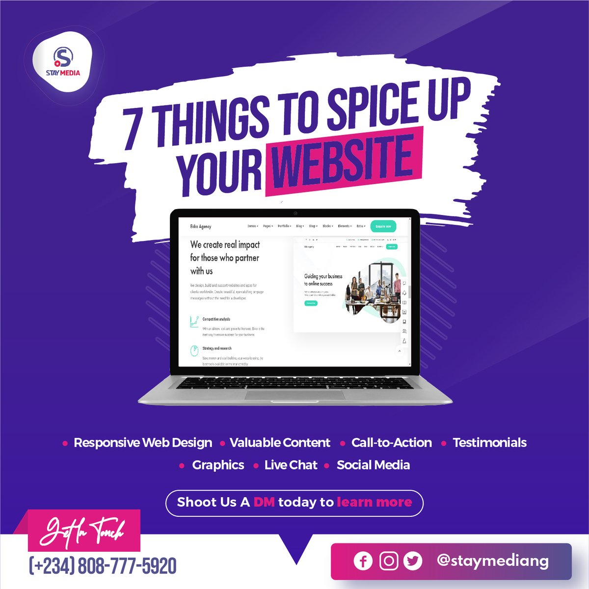Follow these seven steps, and you can easily attract the attention of your Website visitors and convert them into customers. To learn more shoot us a DM today #staymediang #staymedia #  #wednesdaywisdom #wednesdayvibes #wednesdaymotivation #wednesdayspic.twitter.com/2y11MmofJ2