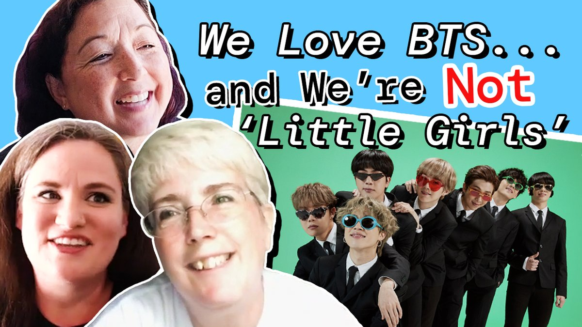 """NEW: We Love #BTS… And We're Not Teenagers!  Allison, Nan, and Yevonne are 3 moms who smash the stereotype that all @BTS_twt fans are """"little girls.""""  Yes, some are """"little girls."""" But #ARMY is so much more!  https://t.co/0eepX2ns6z https://t.co/wdqpvpe9nk"""