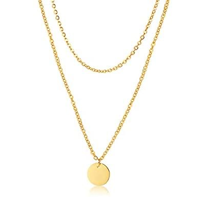 18k Gold Plated Layered Necklaces on sale for $7.99