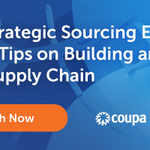 Image for the Tweet beginning: Download this @Coupa on-demand webinar