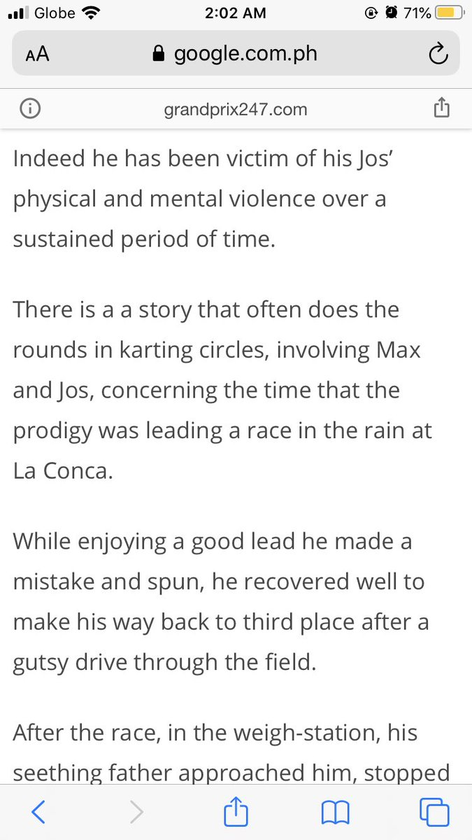 Guys...I found more articles from Max's karting days concerning his father J0s Verstappen and it's worse than we know. I'm getting chills 😭💔 He actually really assaults him and it's something the karting circle knows. There are also more stories that j0s even admitted himself https://t.co/4HHiGfZuS3