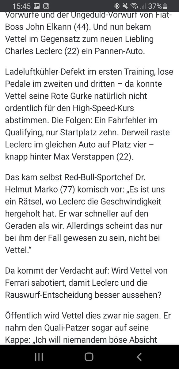 @ScuderiaFerrari @ray_ban Even Helmut Marko says he doesn't know where Leclercs pace on the straights came from and he wondered why is it only for Charles? Sabotating https://t.co/7V7CPzj1yT