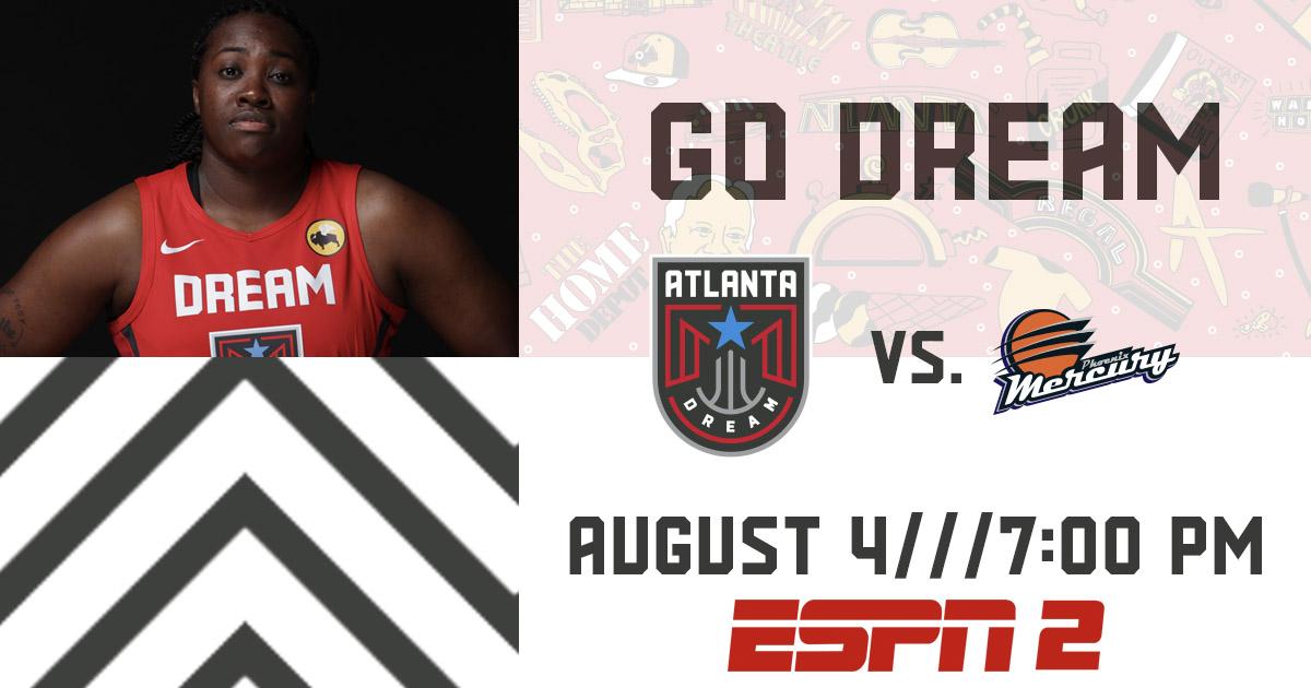 Next up:  Dream 🆚 Mercury  📅 TOMORROW NIGHT ⏰ 7pm 📺 ESPN2  #GoDream https://t.co/sf9JCS6GxO