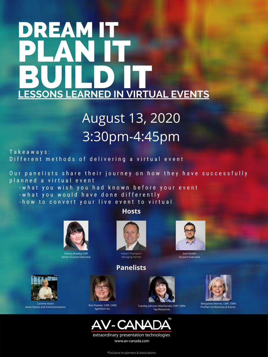 Don't miss out! We're bringing our NEW #webinar with key learnings for #VirtualEvents. Register now at: https://bit.ly/AVCVirtual  #AVCANADA #Eventprofs #mpito #csaetrillium #canspep #virtualeventpic.twitter.com/27B6J4wKVP