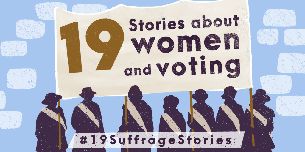 This month marks 100 years since the 19th Amendment became law. With @USNatArchives and @librarycongress, we're counting down #19SuffrageStories of women who worked for the vote—before and after 1920—through the Aug. 26 anniversary. #BecauseOfHerStory https://t.co/Y3EcCtoJA8 https://t.co/Gf2x37eq7C
