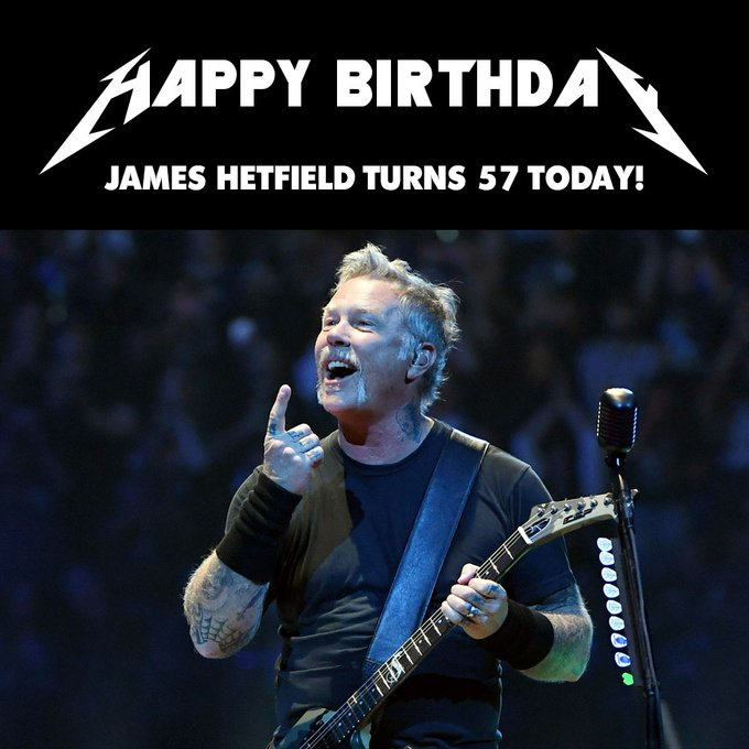 Happy Birthday to James Hetfield!