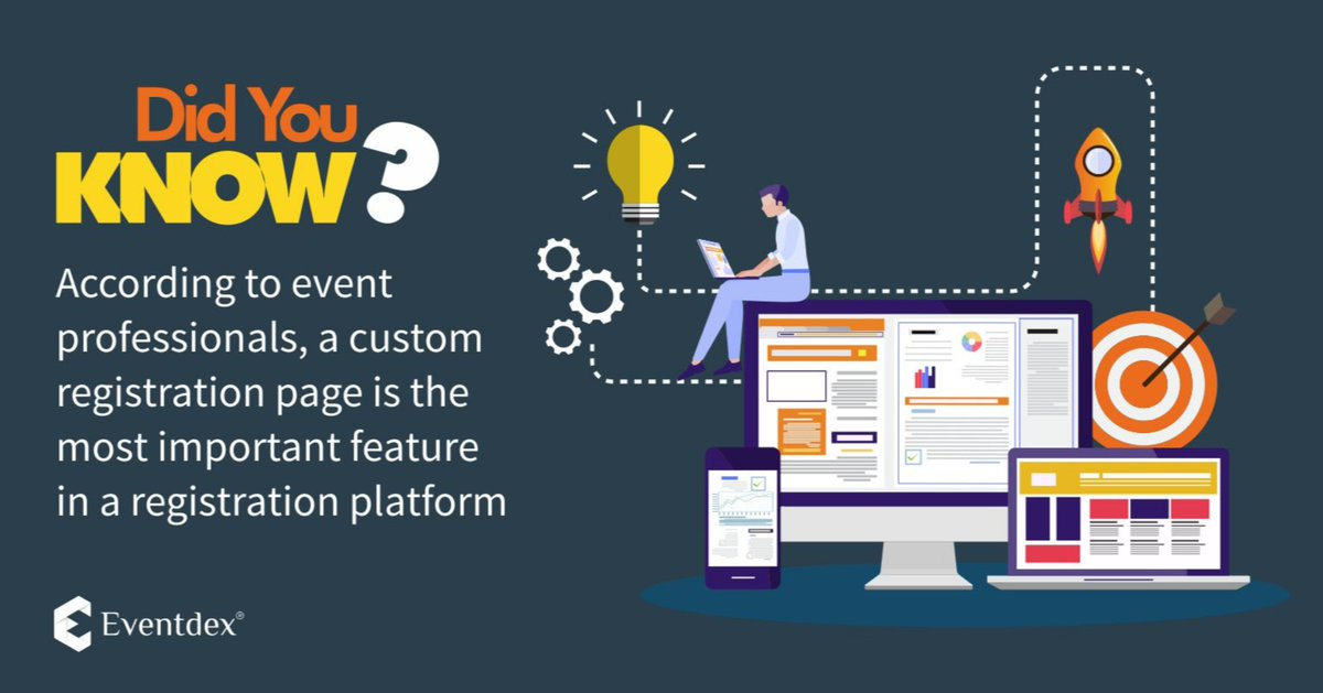 Did You Know: According to event professionals, a custom registration page is the most important feature in a registration platform.  So what are you waiting for??  Customize your Event Registration Page now!! http://ow.ly/Pcj650vjvug   #eventprofs #EventRegistration #EventDatapic.twitter.com/dcsSXn8Hpg