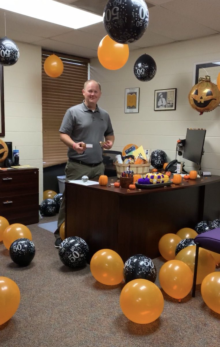 Happy Birthday, Mr. Moreland! He likes pumpkin spice everything! 🥳 🎃 🎈