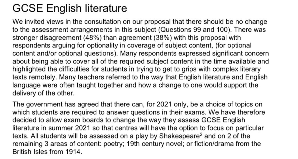 Ofqual guidance for 2021 exams. Interesting!