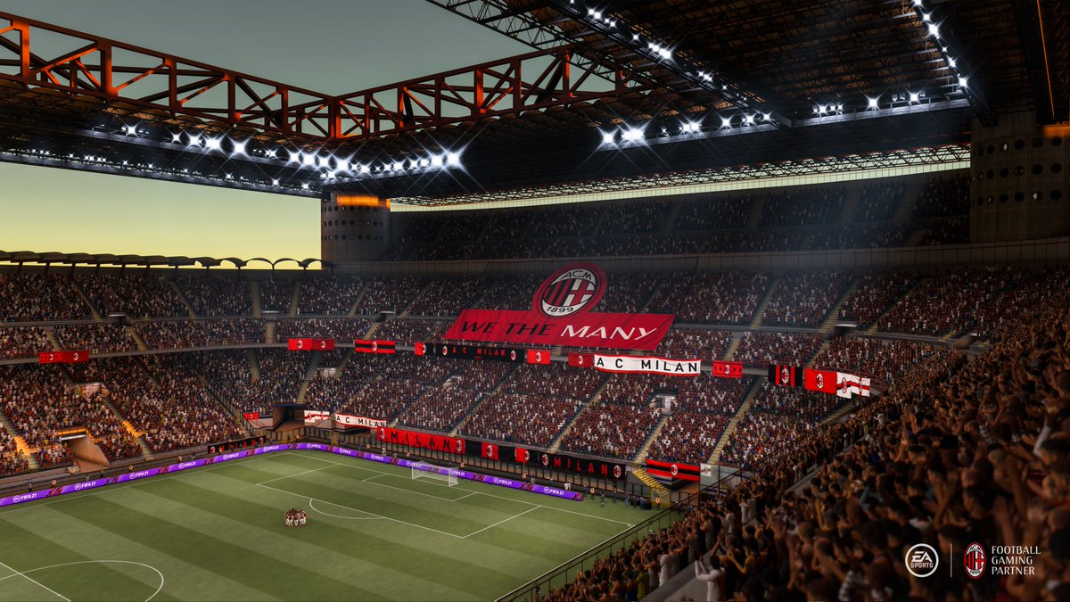 "AC Milan on Twitter: ""🎮⚽ @EASPORTSFIFA 21 is the only place you can play  as the Rossoneri, including the historic San Siro. Pre-order #FIFA21 now ➡️  https://t.co/tOFBWslkXc 🔴⚫ #SempreMilan… https://t.co/JIb0T6BYiD"""
