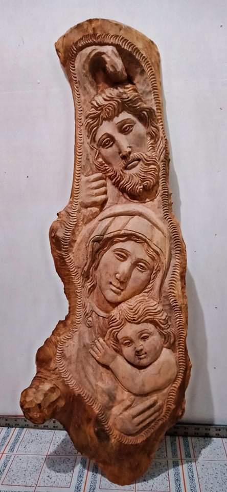 #holyfamily #religiusitem #woodcarving #ukitpaete #woodwork #woodart #weacceptmadetoorder https://t.co/lGXpffnjiH