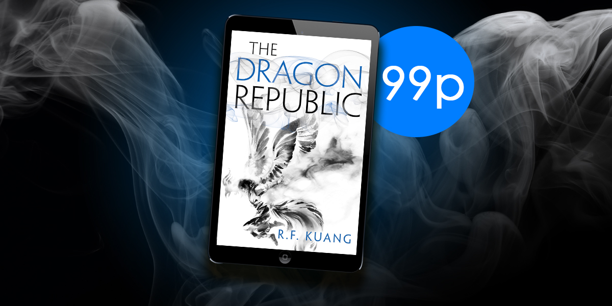 Congratulations to @kuangrf for winning the #HugoAwards Astounding Award for best new writer! Grab the latest book in her brain-meltingly good (technical term) Poppy War Trilogy for 99p 👉 amzn.to/2XnEB8G