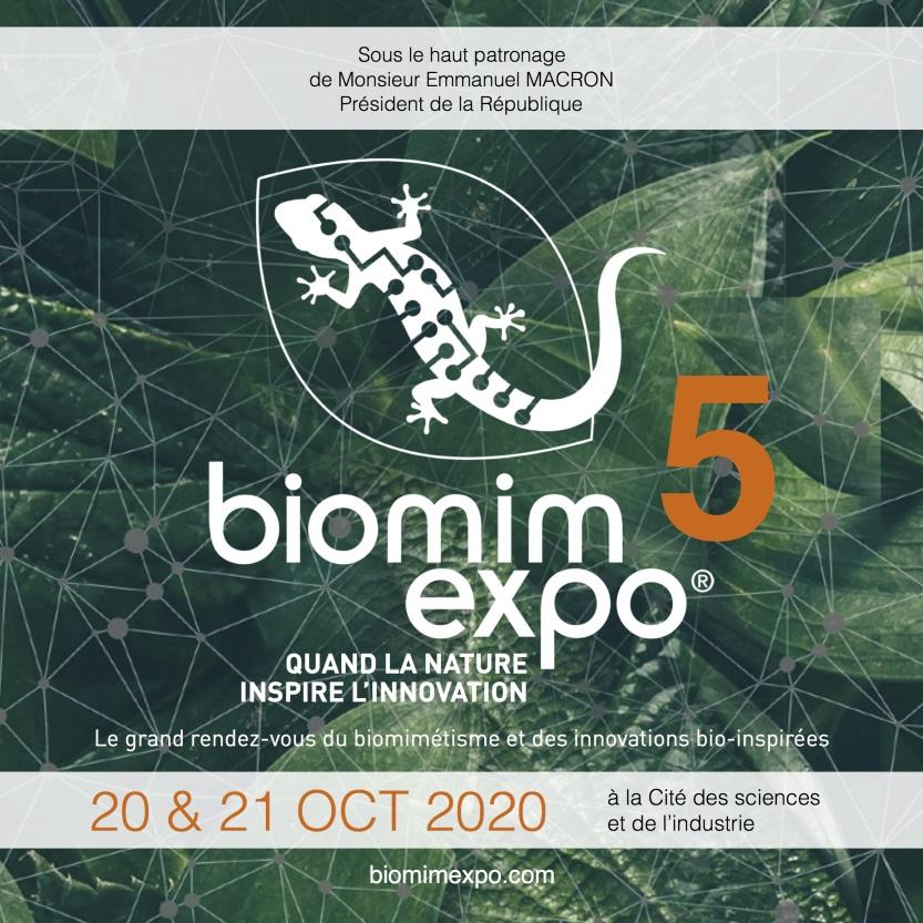 .@biomimexpo 2020 : pour inventer le monde de demain avec et par le vivant. #biomimétisme #robotique #Push4m https://t.co/4K9fHN3Czj