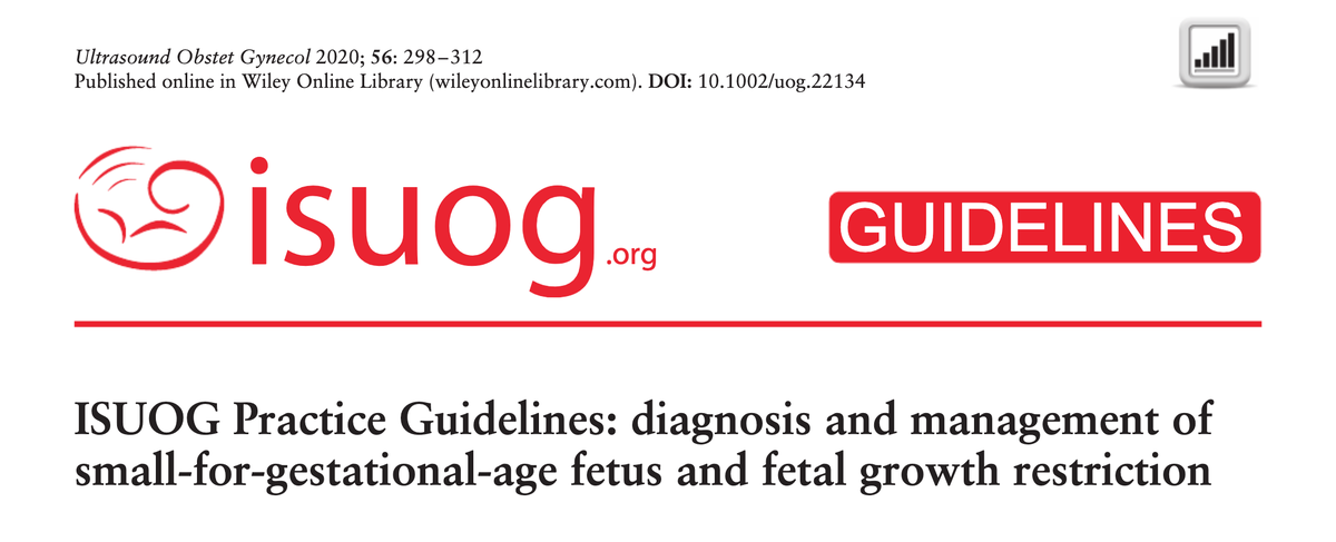 New #ISUOG Practice Guidelines on the diagnosis and management of small-for-gestational-age fetus and fetal growth restriction: https://t.co/SFdCaaZLor  @cylpoon1 @Christoph_Lees #LoveUltrasound #OBGYN https://t.co/p4zudblxOa