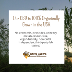 Our #CBD is 100% organically grown in the USA and contains no chemicals, pesticides, or heavy metals. It is gluten-free, vegan-friendly, non-GMO, and independent third-party lab tested. #hempoilcbd #hempoilextract #cbdoil #hempoil https://t.co/g0NiD4iSnL