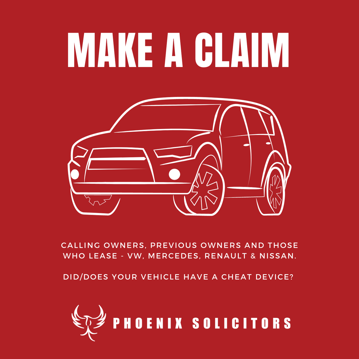 Many #VW, #Mercedes, #Renault, #Nissan & other car manufacturers are accused of fitting #cheatdevices to vehicles. Do you own, previously own or lease an affected vehicle? You could claim THOUSANDS in #compensation. For more info and to #claim now, visit https://t.co/RhRTfy8xfI. https://t.co/UOVJRiKN72