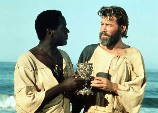 Happy belated birthday Peter O'Toole with Richard Roundtree in Man Friday 1976.#PeterOToole #RichardRoundtree #manfridaypic.twitter.com/xe6WSGDbpQ