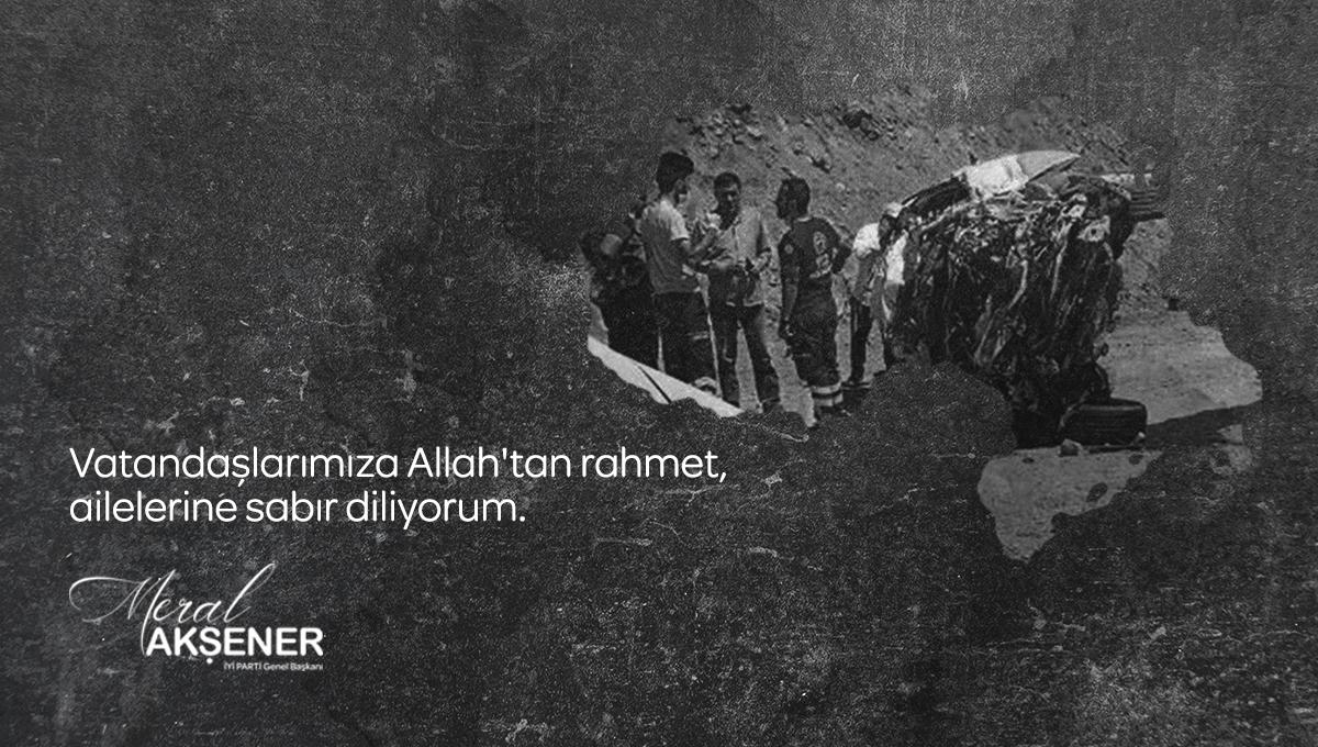 #Hakkari'deki trafik kazasında hayatını kaybeden Millî Eğitim çalışanlarımıza ve vatandaşlarımıza Yüce Allah'tan rahmet, acılı ailelerine sabır, yaralanan vatandaşımıza acil şifalar diliyorum. https://t.co/VUJDdeeyeZ