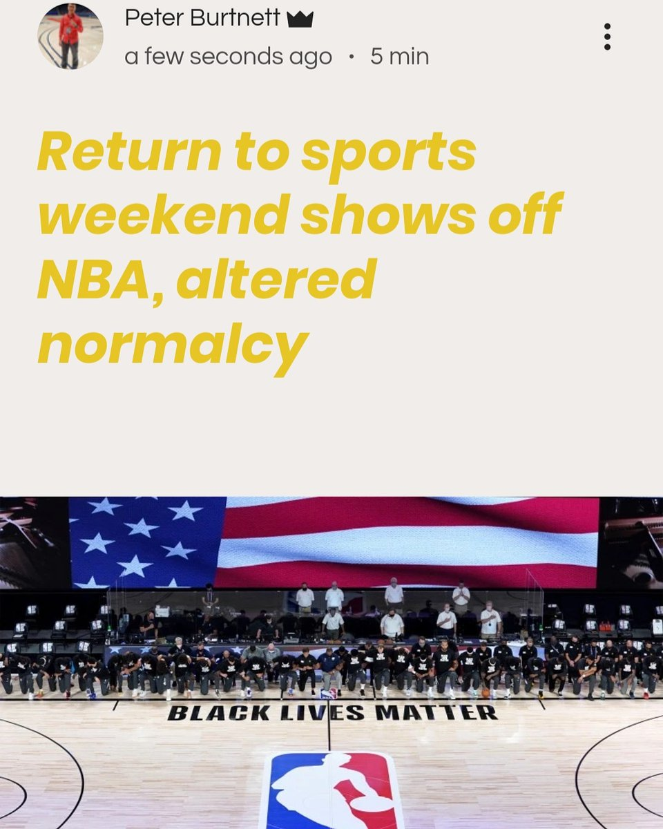 Sports are back! More details on the return of the NBA (and others) at the link below. https://www.impactsportsmedia.net/post/return-sports-weekend-shows-nba-altered-normalcy …pic.twitter.com/GgDwF368X4